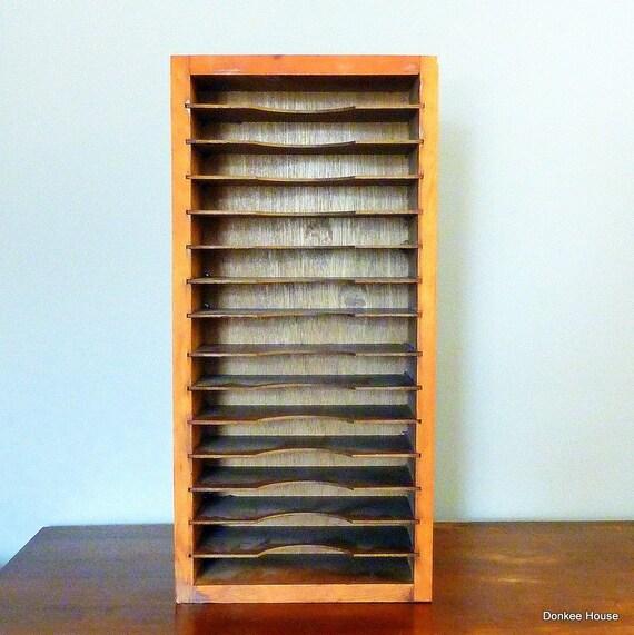 vintage rustic wood mail sorter filing system for home office. Black Bedroom Furniture Sets. Home Design Ideas