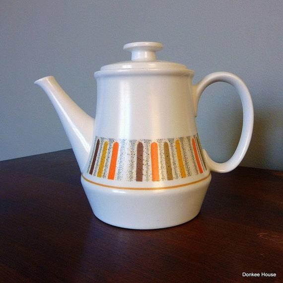 Vintage Noritake Teapot - Mardi Gras 1970s