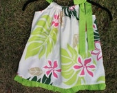 Children's Dress with Lime Green Ruffles