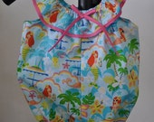 Cute Infant Romper in Hawaiian Print  (one size only)