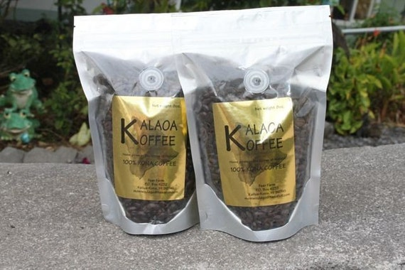 100 Percent Fresh Kona Coffee from Hawaii (2) 8 oz. Bags Whole Bean (Ground Available upon Request)