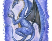 Dragon Art Print fantasy Dragon's Tear by Lindsey Cormier
