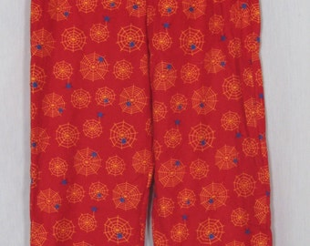 Red Spiderweb flannel PJ pants
