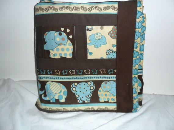 It's a Polka Dot Blue  Elephant Blanket