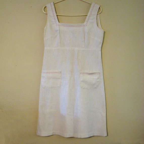 Vintage Dress White Summer Dress Hippie