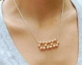 Petite Peachy Pearl beaded necklace