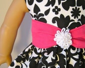 18 inch Doll Clothes fits American Girl Doll- Black Damask Doll Dress by stlkaty