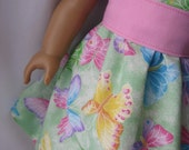 American Girl Doll Dress and Bitty Baby Doll Clothing Green Butterfly by Stlkaty on Etsy.com