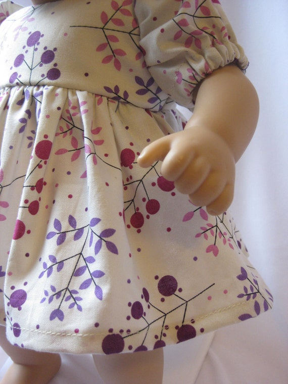 15 inch Doll Dress Bitty Baby Doll Clothes Purple Headband