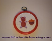RESERVED for maikastar - Funky Panda with Acorn cross stitch