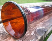 Amber Glass Didgeridoo with Silver Fumed Ends - 4 ft. - Waxless