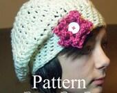 Cheltzie Beret PATTERN with bonus Flower Pattern.