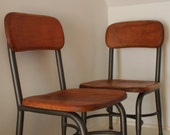 Antique Childs School Chairs pair