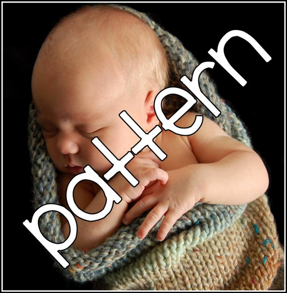 Baby Pea Pod Knitting Pattern for Newborn Babies - Cocoon Photography Prop and Baby Gift