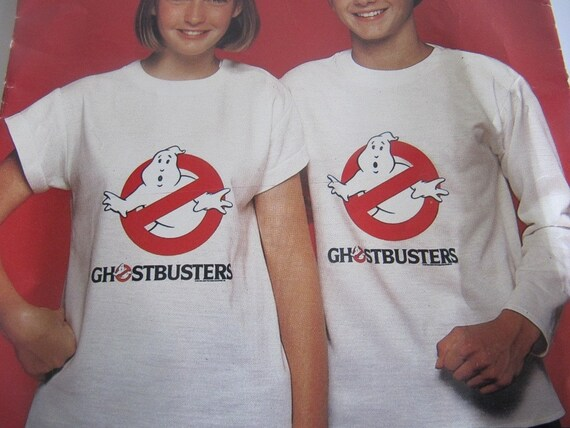 1980s UnCut Ghostbusters Girls and Boys T-Shirt Sewing Pattern