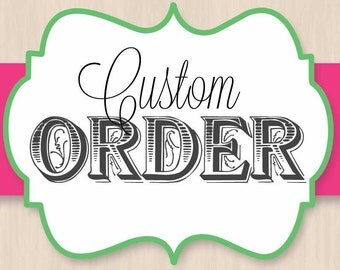 Custom Listing with for Jocelyn Melendez with Instant Download