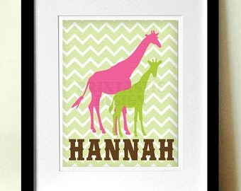 GIRAFFE Personalized Printable Nursery Art