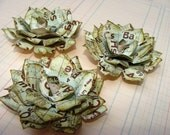 Handmade Paper Flowers - Set of 3 Periodic Table Large Tea Roses