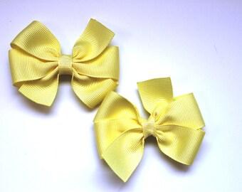 Pale Yellow Boutique Bows