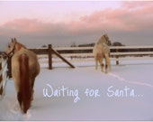 Holiday Greeting Card - Waiting For Santa