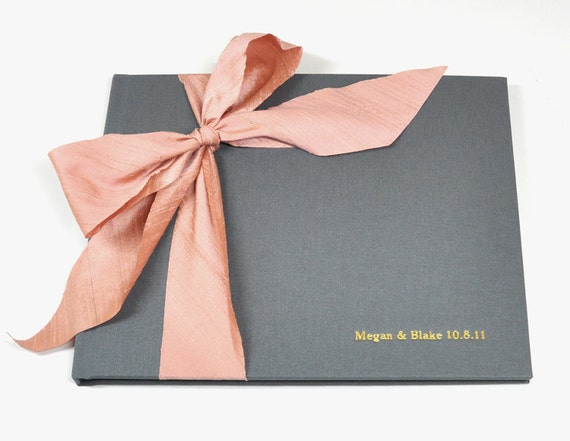 Wedding Guest Book - Photo Albums - Silk Dupioni Bow by Claire Magnolia