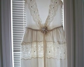 Rare antique ribbonwork wedding dress is a beautiful sight to behold