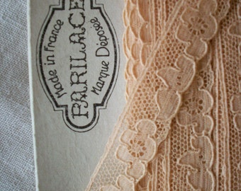 Tea and milk color  french alencon cotton lace trim