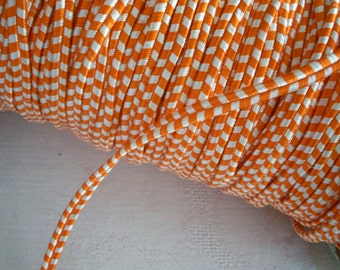 3 yards of Vintage orange and white french soutache braid, more avail.