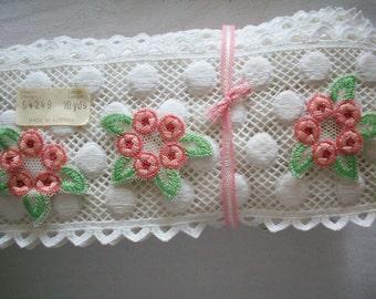Antique little swiss cotton hand loom appliques 1930s