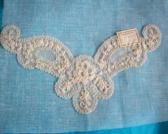 Antique fine cotton lace collar/inset
