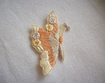 1 Darling hand done butterfly appliques in pastels never used