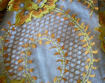1 yd. of a Spectacular two tone vintage french lace