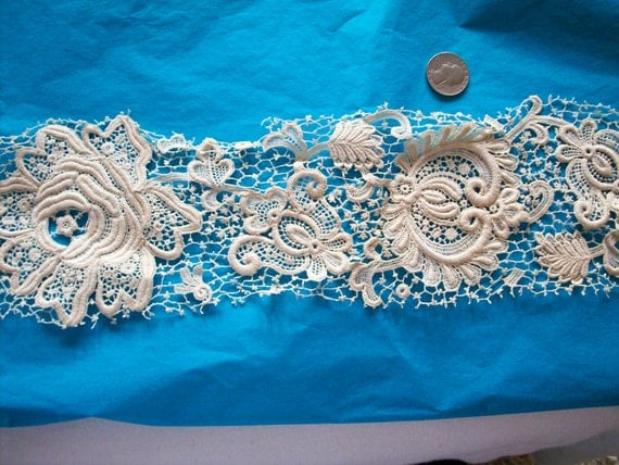 Lovely lace sample with a rose
