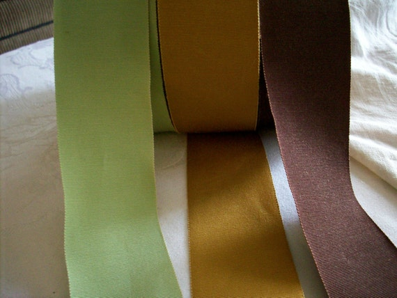 reserved for S. 50 yds. of 2 inch petersham ribbon in celery