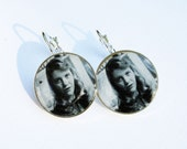 Sylvia Plath Sterling Silver Plated Earrings
