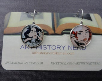 Lichtenstein Pop Art Cartoon Earrings