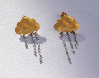 Handmade Cloud Earrings You Can't Steal My Sunshine