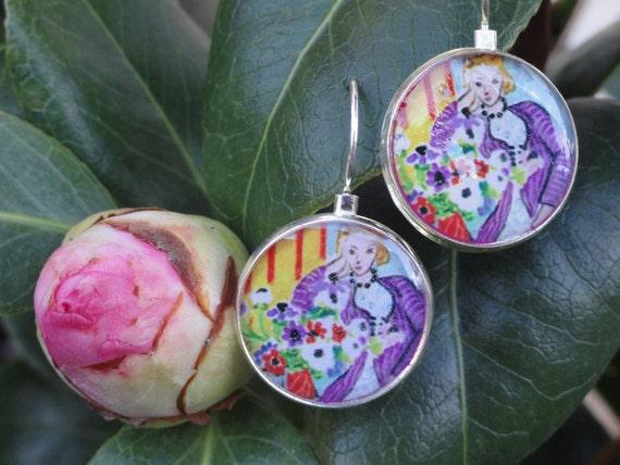 Matisse Flower Girl Sterling Silver plated Earrings