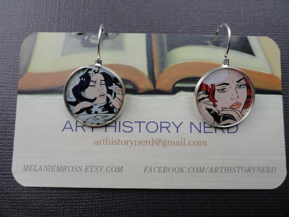 Lichtenstein Pop Art Cartoon Earrings