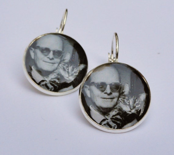 Truman Capote Sterling Silver plated Earrings