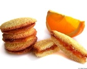 Orange Sandwich Cookies, 1/2 lb