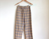 MOVING SALE////vintage 1990s BURBERRY checkered cotton trousers