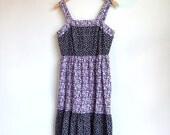 SALE...vintage 1970's tiered floral print dress
