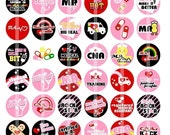 Medical Assistant and Certified Nursing Assistant - 1 inch Round - Digital Collage Sheet for Bottle Cap Pendants, Buttons, Badges, etc.