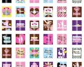 Mother's Day Images - MOM, Stepmom, Aunt - Scrabble Tile Size (.75x.83) Digital Images- DIGITAL Collage Sheet for Pendants, Buttons,  etc.