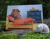 RESERVED Guinea Pig Tidy Piggy Postcard Set - fine art guinea pig  photos