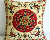 Hand Embroidered Suzani-Pillow Cover