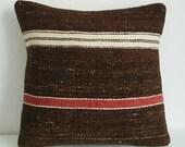 Sukan / Handwoven Vintage Turkish Kilim Pillow Cover, Decorative Pillows, Accent Pillow, Throw Pillow