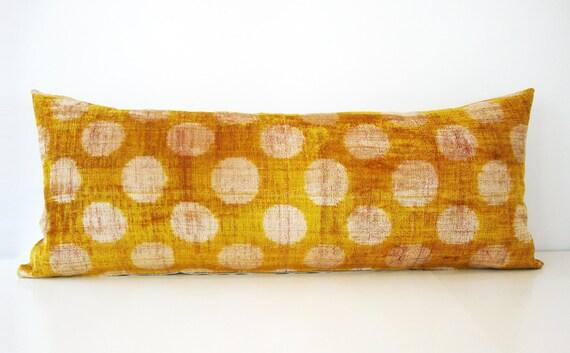 Decorative Long Pillows : Items similar to Sukan / SALE, Decorative Pillows,Throw Pillow Cover, Handmade Long Silk Velvet ...