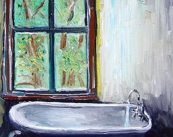 Bathtub Oilpainting